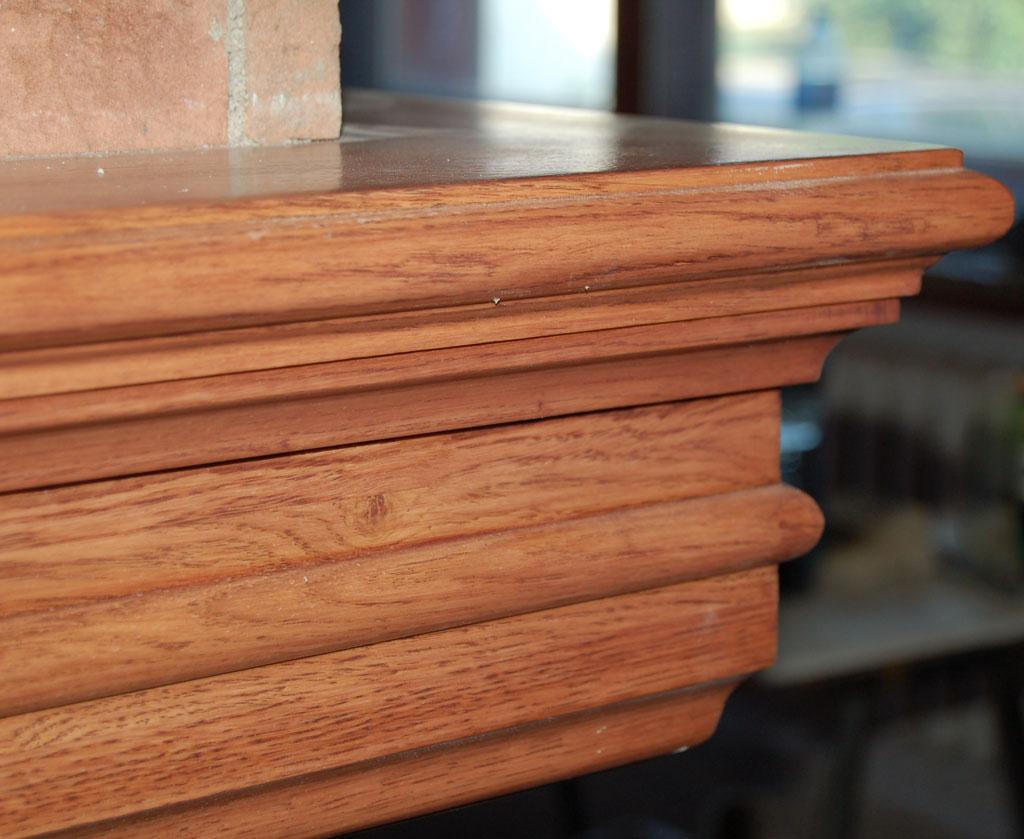 Belka kominkowa drewniana retro