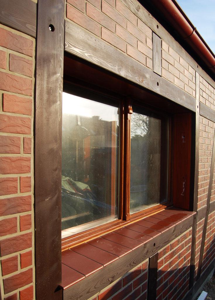 Okno skrzynkowe merbau retro
